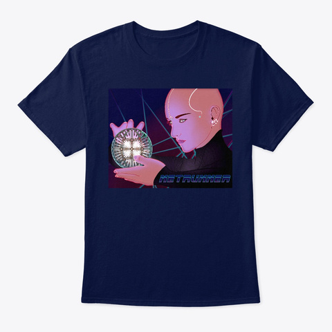 Netrunner   In The System    Navy T-Shirt Front