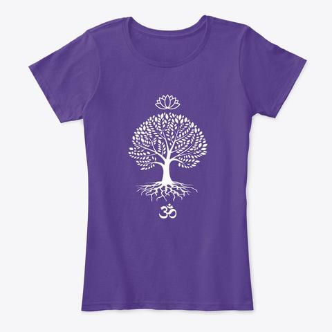 Spiritual Symbols Purple T-Shirt Front