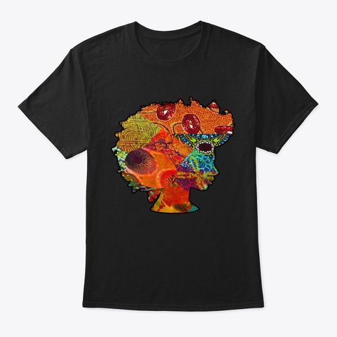 Melanated Queen  Black T-Shirt Front