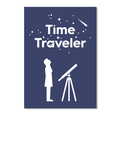 Time Traveler Woman Sticker [Usa] #Sfsf Dk Navy Sticker Front