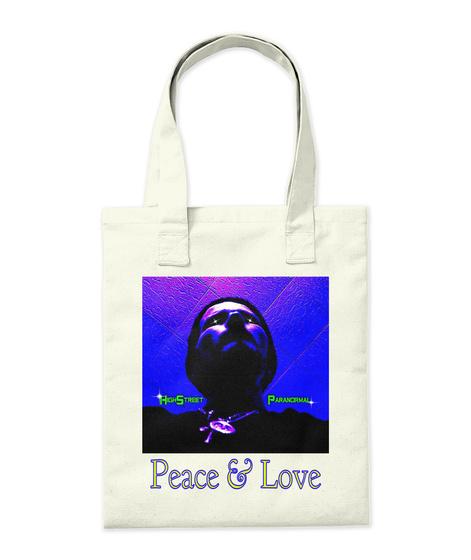 Peace & Love Natural T-Shirt Back