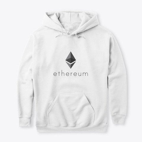 Ethereum : By Cryptoontour  White T-Shirt Front