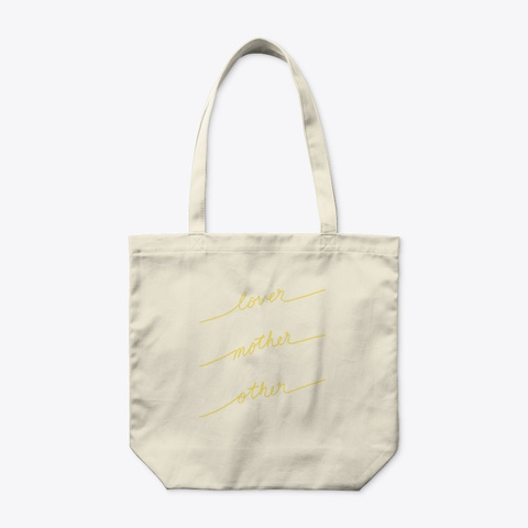 Lover Mother Other   Tote Bag (Yellow) Natural T-Shirt Front