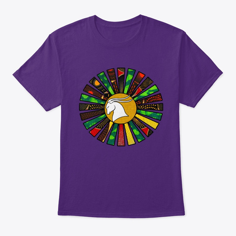 Capricorn Rasta Sunrays Purple T-Shirt Front