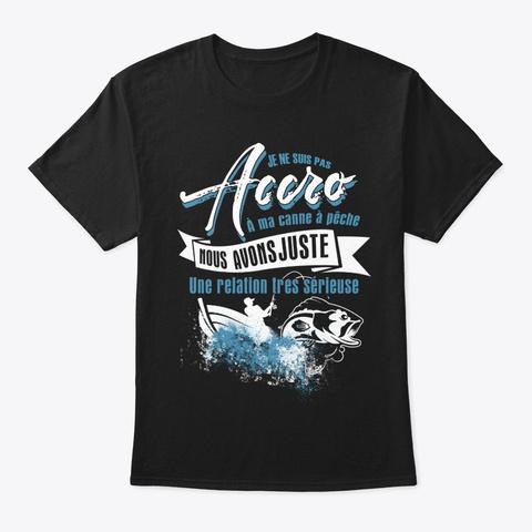 Je Ne Suis Pas Accro Black T-Shirt Front