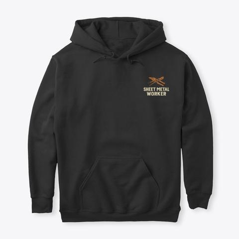 Elusive Sheet Metal Worker Shirt Black T-Shirt Front
