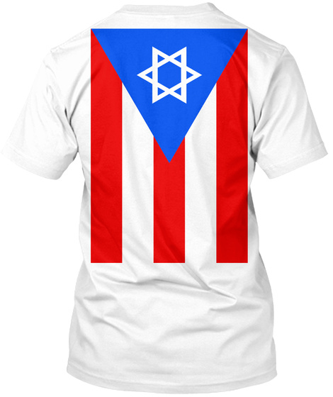 Thunder Life, Jewish Puerto Rican! White T-Shirt Back