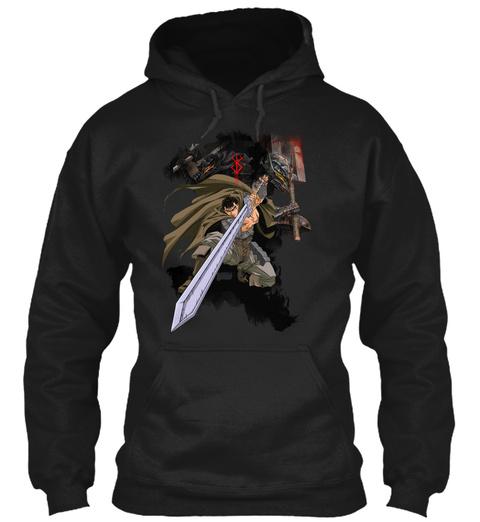 Berserk Guts Wolf Black T-Shirt Front