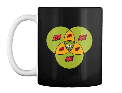 Ack Ack Ack Mug [Int] #Sfsf Black Mug Front