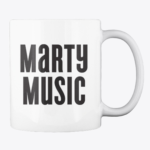 Marty Music Mug White T-Shirt Back