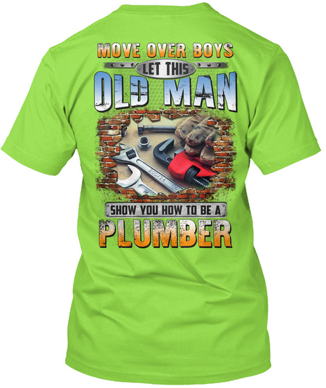 Awesome Plumber Lime T-Shirt Back