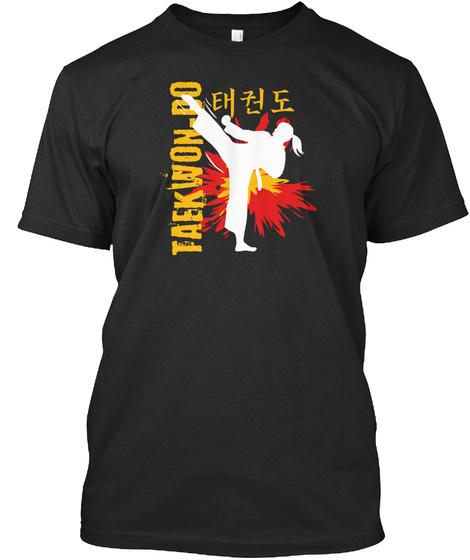 Taekwon Do Lifestyle Black T-Shirt Front
