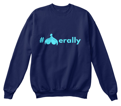 Cliterally Amazing Sweatshirt Navy  Sweatshirt Front