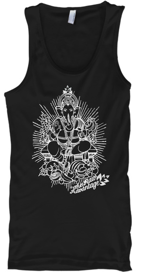 Fruity Ganesh Tank Tops Black T-Shirt Front