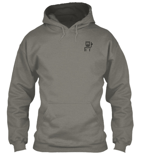 Point To The Sky! Charcoal Sweatshirt Front