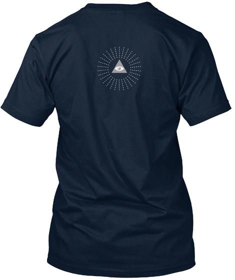 Conspiracy Realist New Navy T-Shirt Back