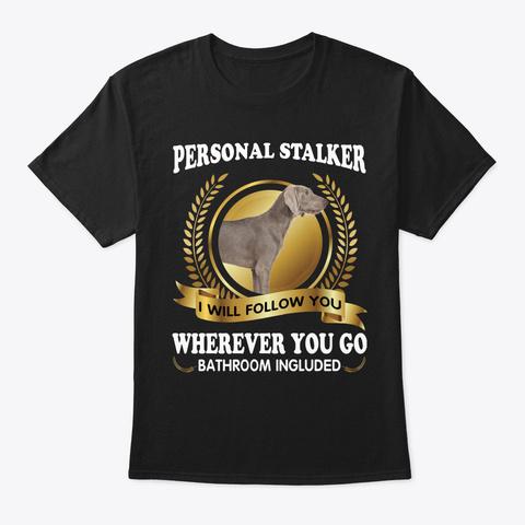 Pointer Dog Personal Stalker Black T-Shirt Front
