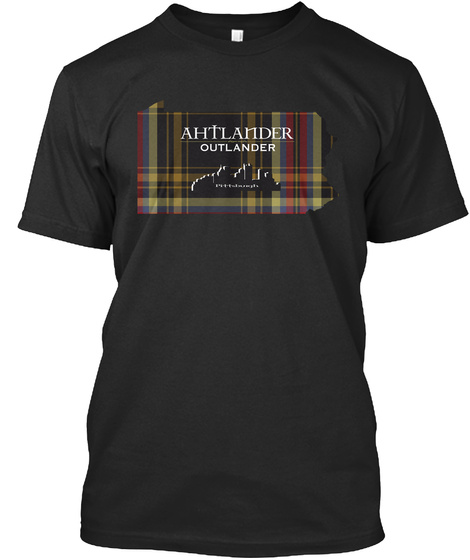 Ahtlander Outlander St.Andrew's Society Of Pittsburgh Black T-Shirt Front