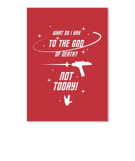 Brave Redshirt Sticker [Usa] #Sfsf Bright Red Sticker Front