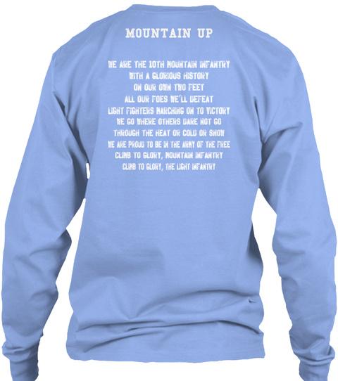 Mountain Up  Light Blue T-Shirt Back