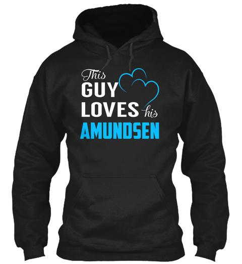 Guy Loves Amundsen   Name Shirts Black T-Shirt Front