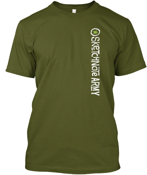 Sketchnote Army Olive T-Shirt Front