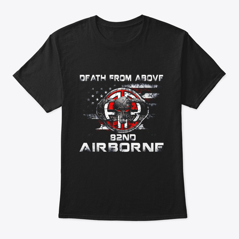 Death From Above 82nd Airborne Division Black T-Shirt Front