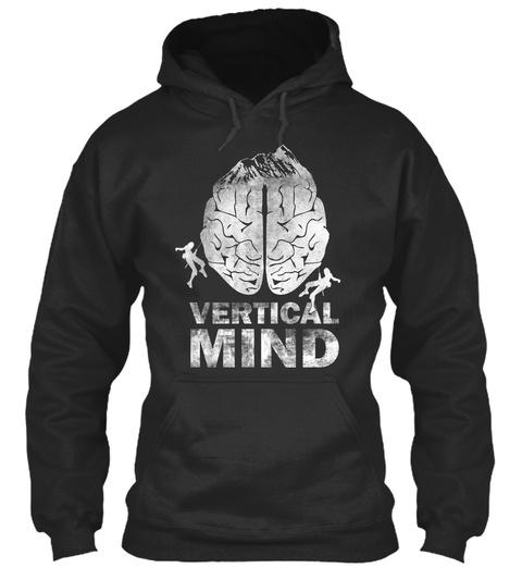 Vertical Mind Jet Black T-Shirt Front