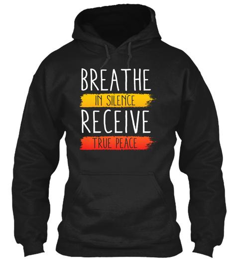 Breathe Zen Meditation Buddha Black T-Shirt Front