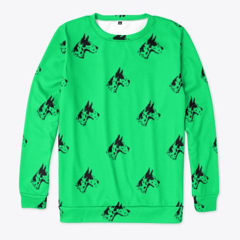 Green Great Dane Pattern Sweatshirt Standard T-Shirt Front