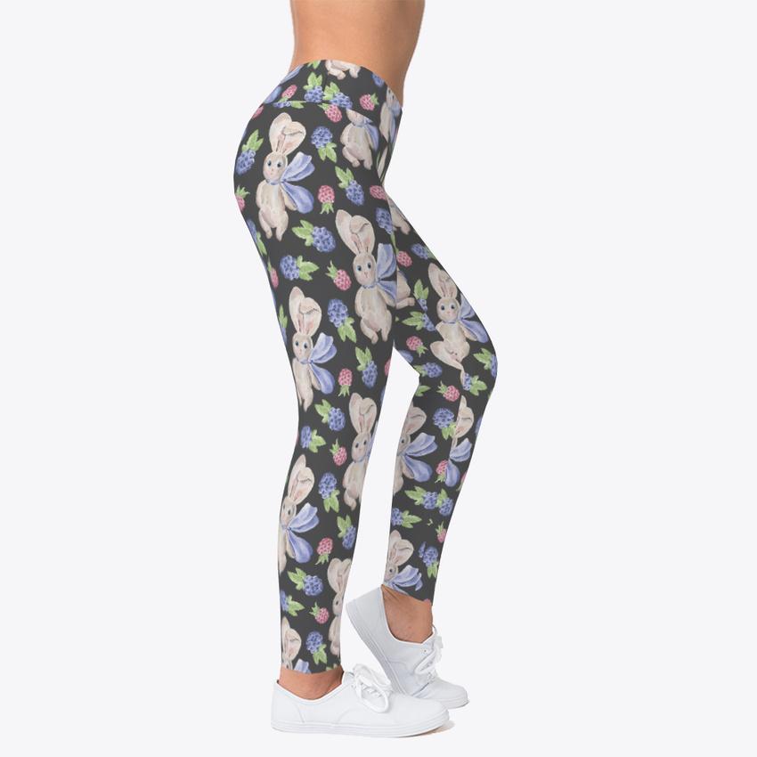 Bunny Leggings Women's Print Fitness Stretch *Leggings