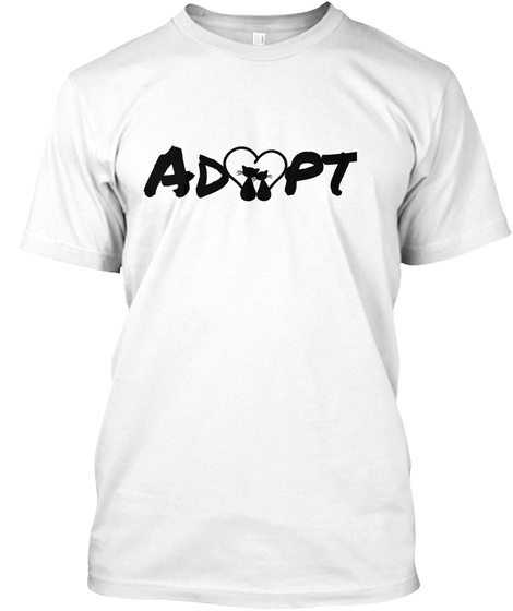 Adopt White T-Shirt Front