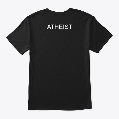 Atheist Black T-Shirt Back