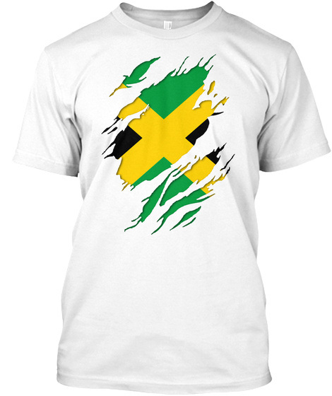 Jamaican Inside Out White T-Shirt Front
