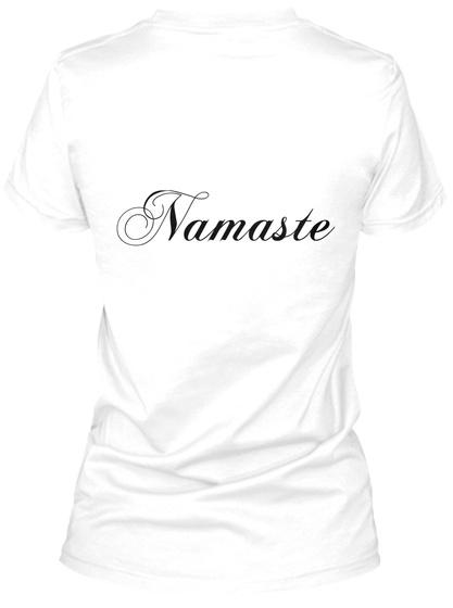Namaste White T-Shirt Back
