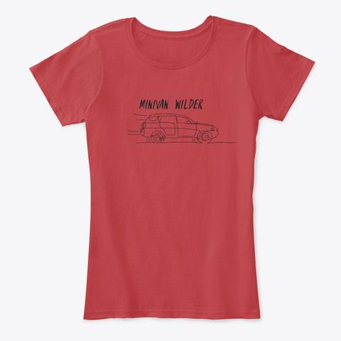 "Rich Collins ""Minivan Wilder"" Gear Classic Red T-Shirt Front"