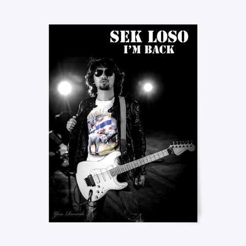 Sek Loso Poster Black T-Shirt Front