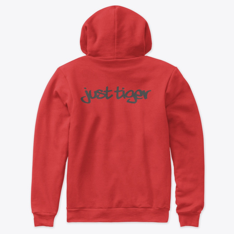 Nice T Shirt Just Tiger Red T-Shirt Back