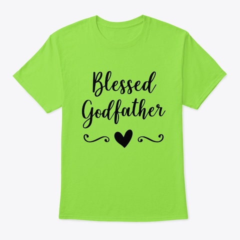 Blessed Godfather Lime T-Shirt Front