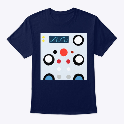 Bleeps And Blops Navy T-Shirt Front