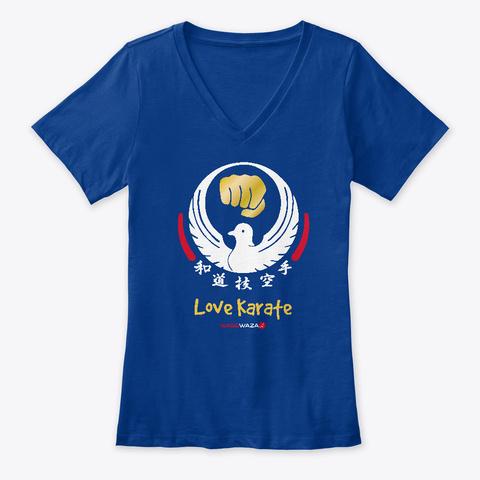 Love Karate For Women True Royal T-Shirt Front