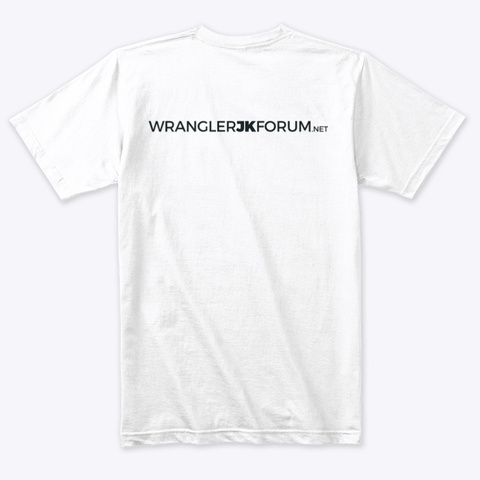Jk Forum Heather White T-Shirt Back