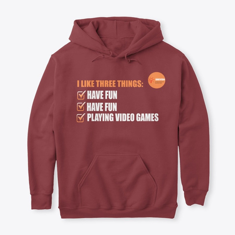 I Iike Three Things Maroon T-Shirt Front