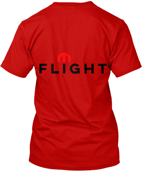 Flight Classic Red T-Shirt Back
