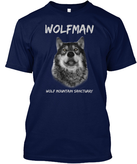 Wolf Mountain Sanctuary Navy T-Shirt Front