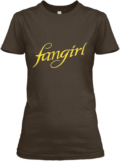 Fangirl Dark Chocolate Women's T-Shirt Front