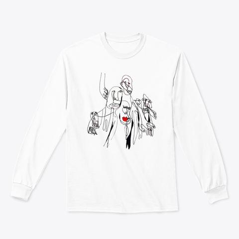 Face Dances White White T-Shirt Front