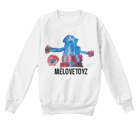 Sweatshirt For Kids White  T-Shirt Front