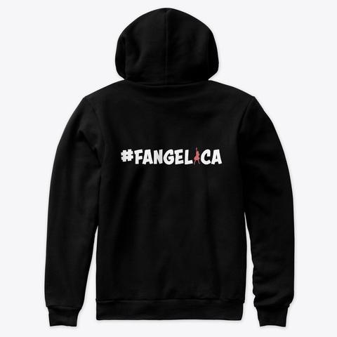 Angelica Hale Pastel Heart Logo! Black T-Shirt Back