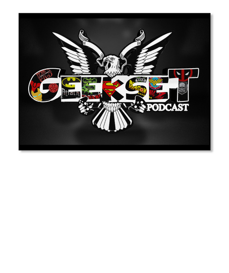 Geekset Podcast Black Sticker Front